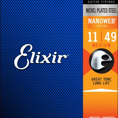 Elixir 12102 Nanoweb Electric  Medium 11-49