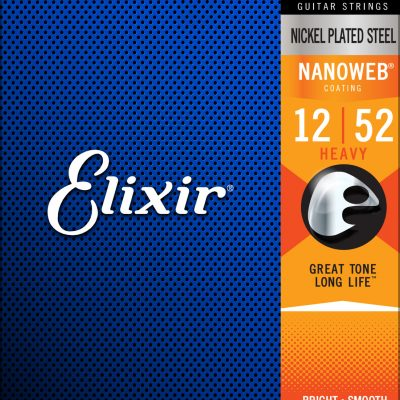 Elixir 12152 Nanoweb Electric Heavy 12-52